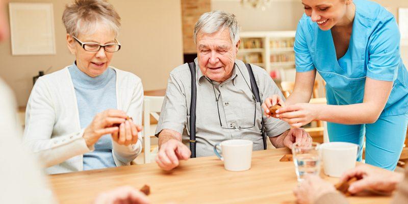 Seniors in a NY senior care facility.