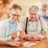 Seniors engaging in activities at a New York senior care facility.